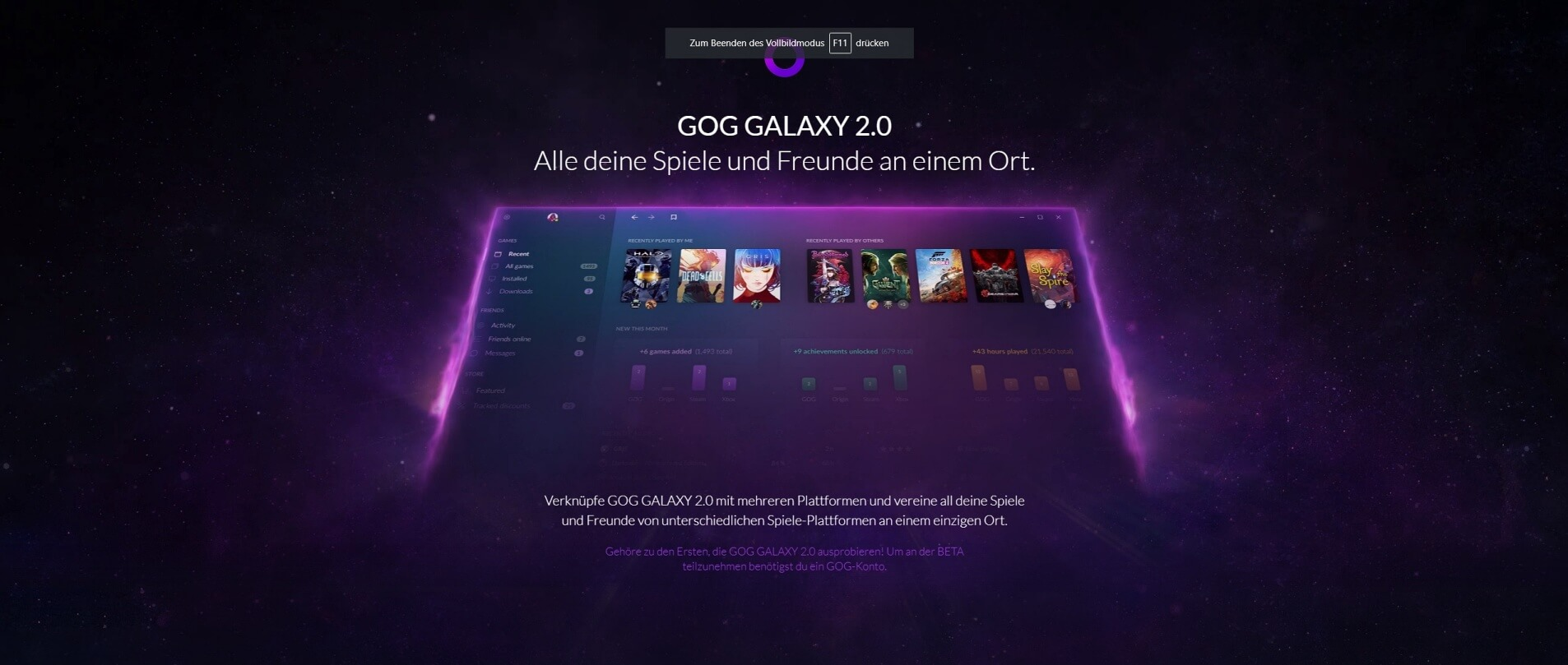 Blog-Artikel: GOG GALAXY 2.0 - Launcher vereint Spiele-Plattformen